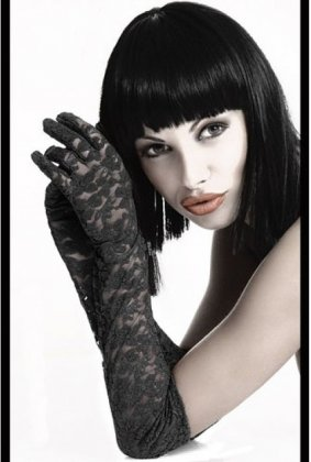 Black Lace Gloves. S-L